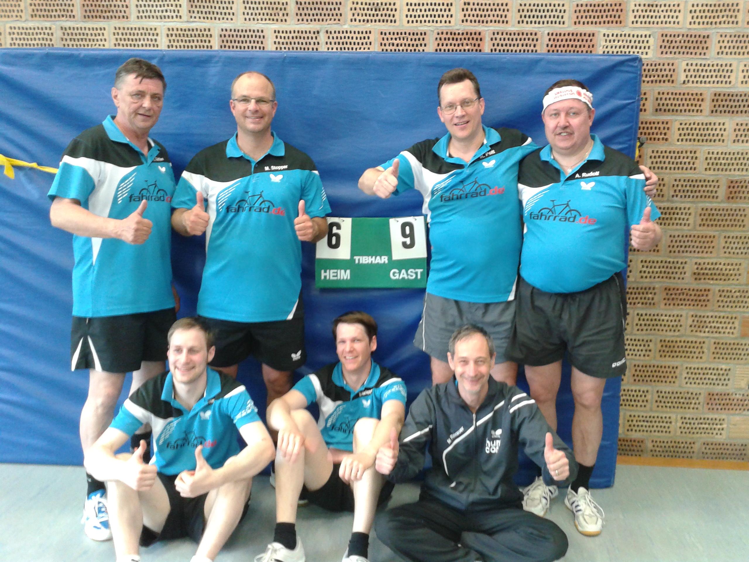 Herren 4 sind Meister der Kreisklasse B ! 9:6 Sieg beim TV Reichenbach 2 !