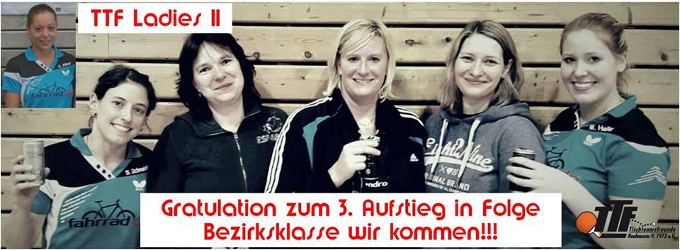 Damen II feiern 3. Aufstieg in Folge!