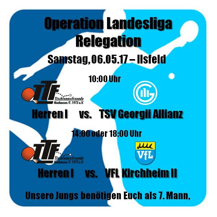 TTF Vorschau: Landesliga-Relegation der Herren I & Pokal-Final4 in Weilheim